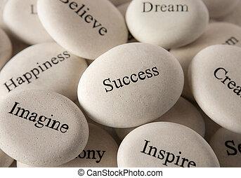 steine, -, inspirational, erfolg
