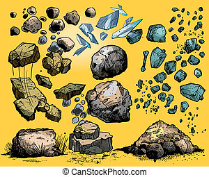 Steine und Steine