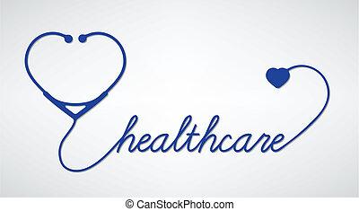 Stethoskop mit Herz.
