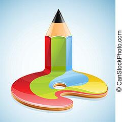 Stift als Symbol für visuelle Kunst