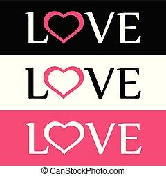 Stil Wohnung Logo der Liebe mit Herzzeichen