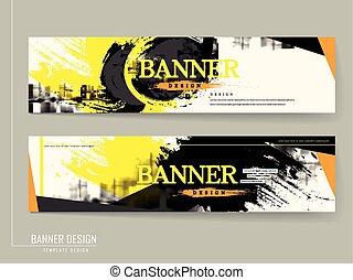Stilvolles Banner Template Design.
