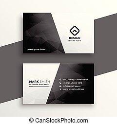 Stilvolles schwarzes und weißes Visitenkartendesign.