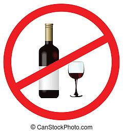 Stoppen Sie den Alkohol