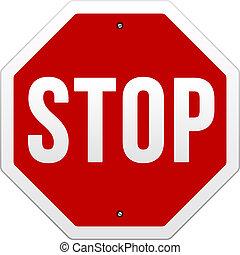 Stoppschildvektor