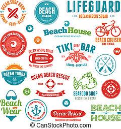 Strandabzeichen und Embleme
