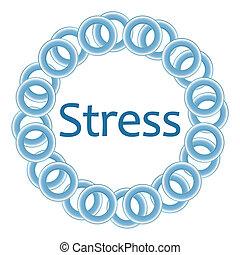Stress blaue Ringe rund.