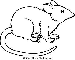 Stylisierte Ratten-Illustration