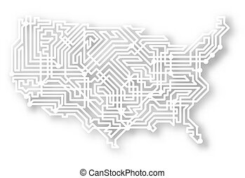 Stylisierte USA-Karte
