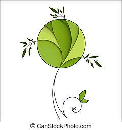 Stylisierter grüner Baum