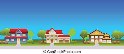 Suburban Häuser in der Nachbarschaft.