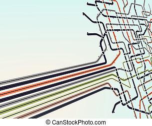 Subway-Netzwerk.