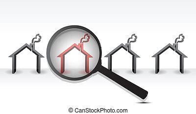 Suche nach heißem Eigentum