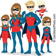 Superhelden-Familienkostüm.