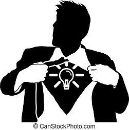 Superidee-Mann-Konzept