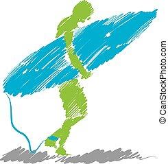 Surfer grobe Illustration 4.
