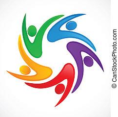 Swooshes Teamwork Logo.