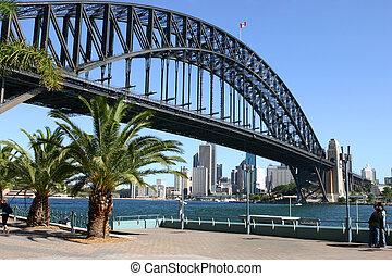 Sydney und Sydney Hafen Bridge