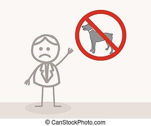symbol, hund, nein