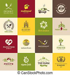 Symbole für Essen und Trinken.