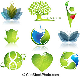 symbole, gesundheitsfürsorge, ökologie