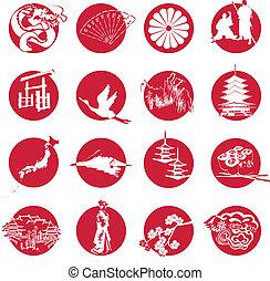 Symbole Japans.