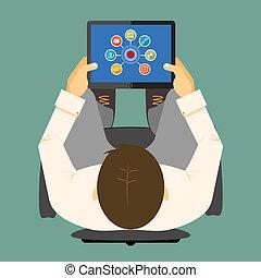 tablette, edv, seo, infographics