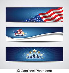 Tag der Arbeit, US-Bannerdesign