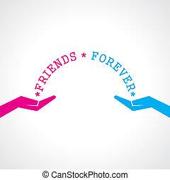 tag, glücklich, karte, freundschaft, gruß