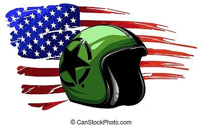 tag, veteran, fahne, kunstwerk, usa, amerika, denkmal, unabhängigkeit