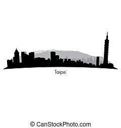Taipeh-Vektor-Skyline.