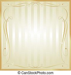 Tan und Gold-Platz, gestreift, ornate Vektor Hintergrund