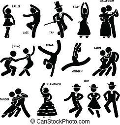 Tanztänzerin Pictogram
