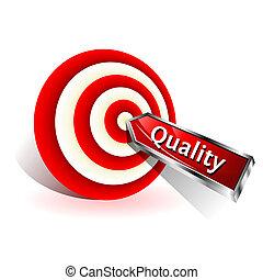 target., concept., zeichen, schlagen, vektor, wurfpfeil, qualität, rotes