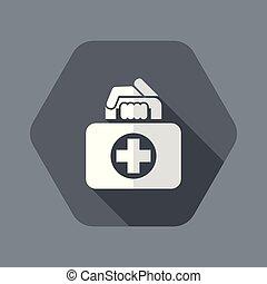 tasche, medizin, ikone