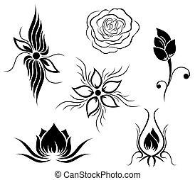 Tattoo und Blumenmuster