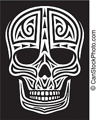 tattoo), verzierung, (skull, totenschädel