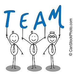 Team-Gruppen-Text
