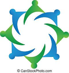 Teamwork Business Logo Vektor.