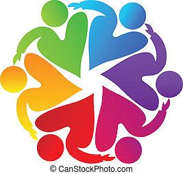 Teamwork Charity People Logo.