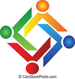 Teamwork Charity People Logo Vektor.