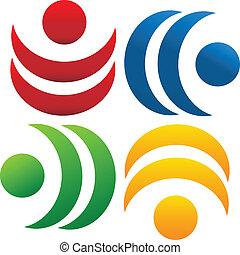 Teamwork Community People Logo.