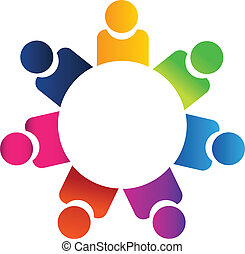 Teamwork-Geschäftsleute-Logo