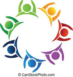 Teamwork Hände hoch Logo.