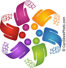 Teamwork kreatives Design-Logo