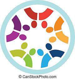 Teamwork-Leute-Logo
