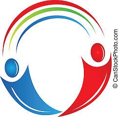 Teamwork Leute verbinden Logo.
