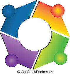 Teamwork-Netzverbindungen Logo