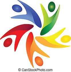 Teamwork Social People Logovektor
