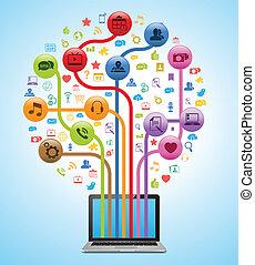 Technologie-App-Baum
